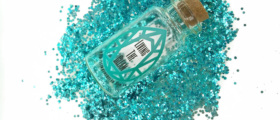 10Gram Turquoise Tribe Chunky Biodegradable Glitter Loose
