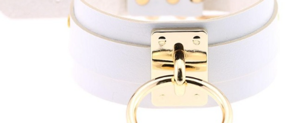 Hold On You Choker - White & Gold