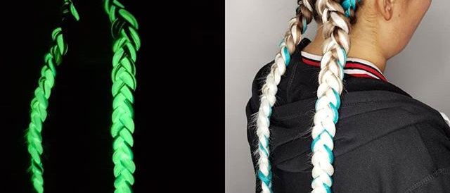 Glow in The Dark Synthetic Hair