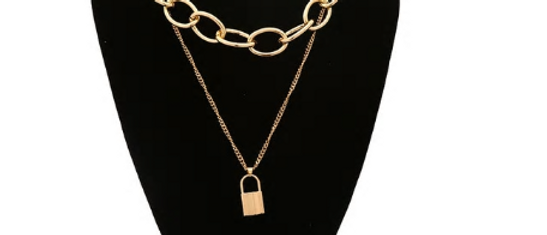 Ball'n Chain Necklace - Gold