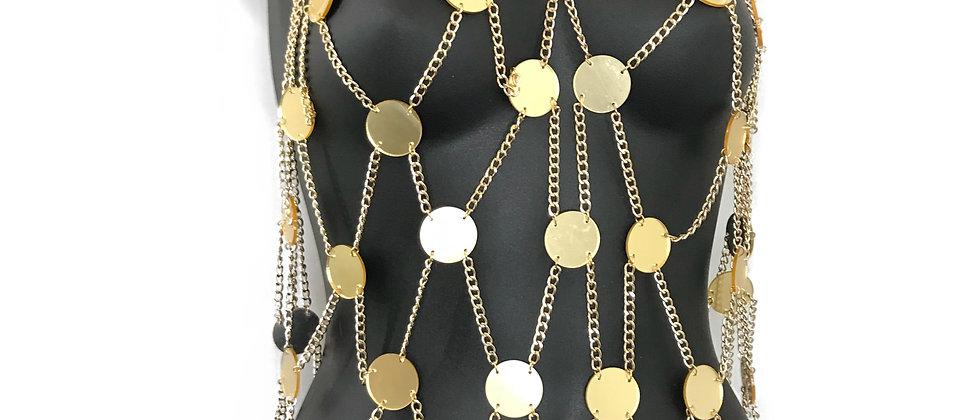 Disco Gleamer Mirrored Top - Gold