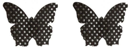 Gleam Pasties - Black Spot Butterfly 1 Set
