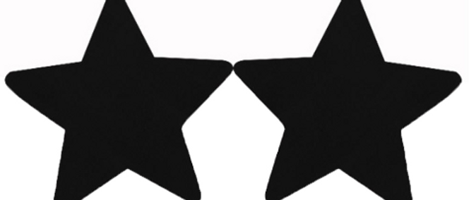 Gleam Pasties - Black Star 1 Set