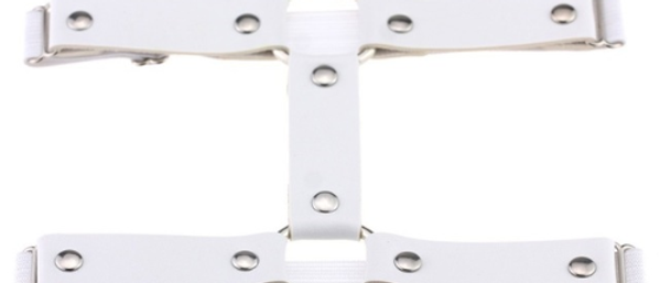 Uh Huh Honey - Leg Garter - White 2 Pack