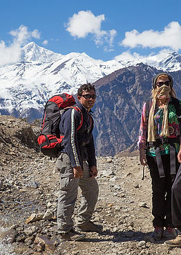 Trekkers in de Khumbu-vallei
