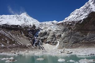 manaslu, ice lake, momo trekking, everest, manaslu