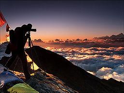 langtang, gosainkund, fotograaf, zonsopgang