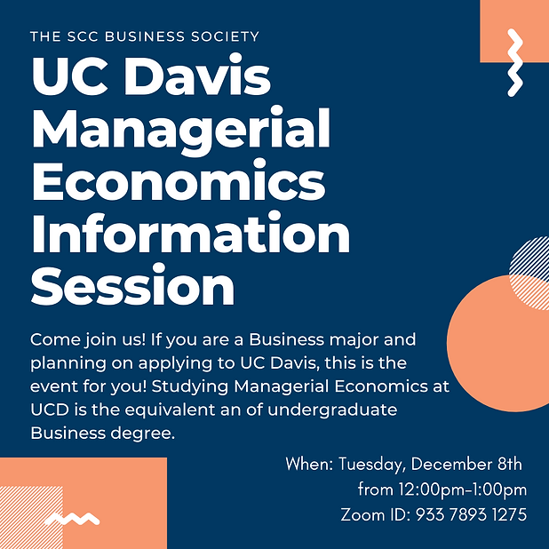 Managerial Economics Information Session
