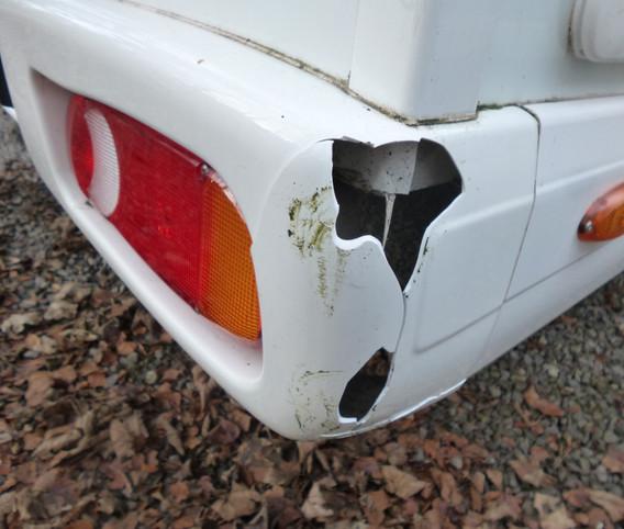 Motorhome Rear Bumper Smash