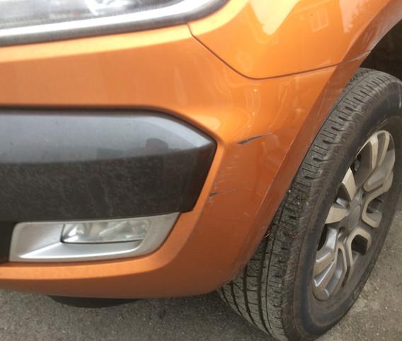 Ford Ranger Bumper Scrape