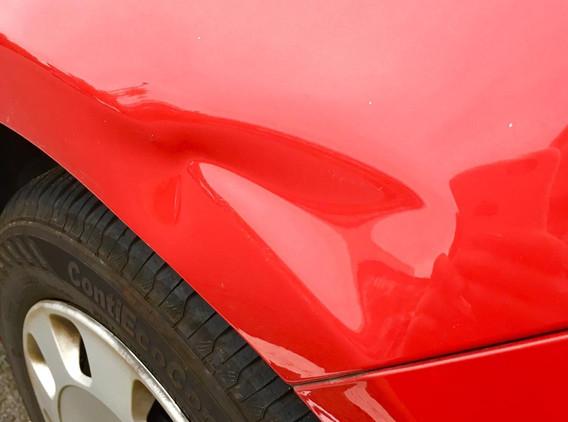 VW Wing Dent