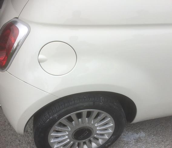 Fiat 500 Rear Wing Damage