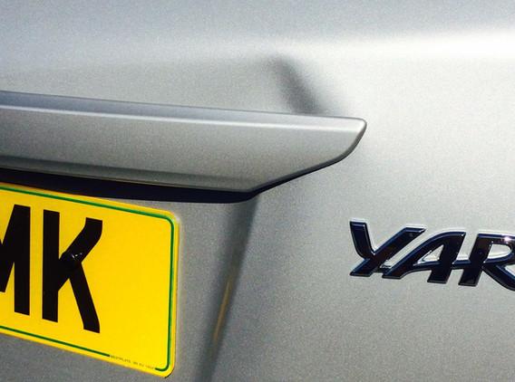 Toyota Yaris Tailgate Dent