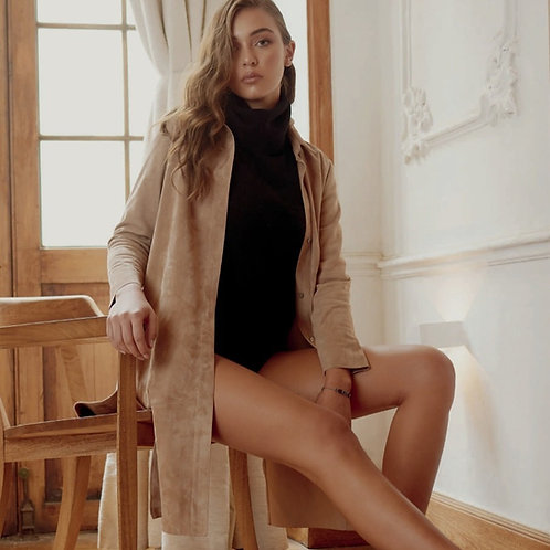 Suede Leather Dress & Coat