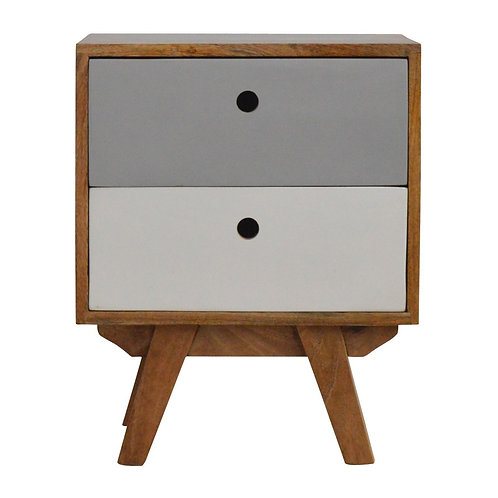 Two Tone Hand Painted Bedside Table
