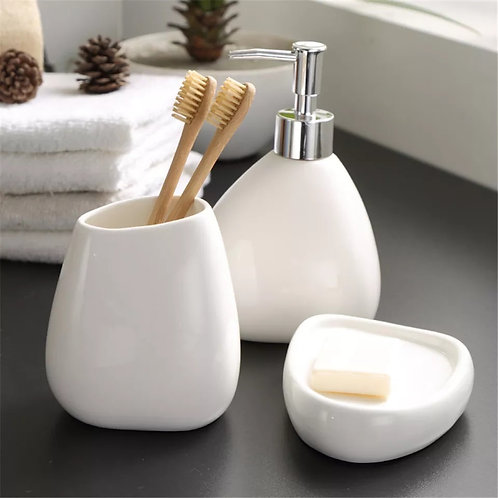White Toothbrush Cup