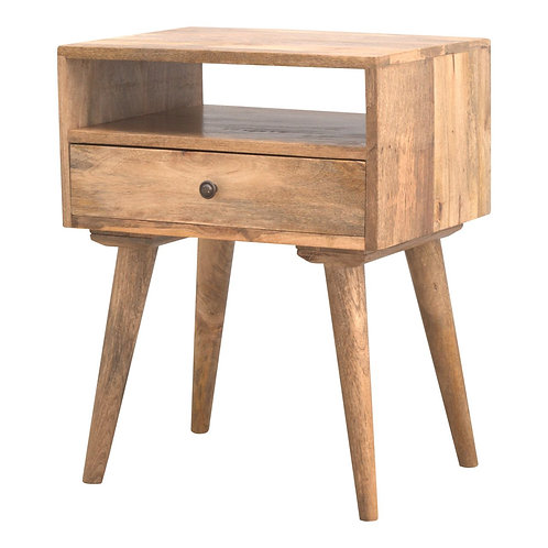 Solid Wood Nordkisa Bedside Table