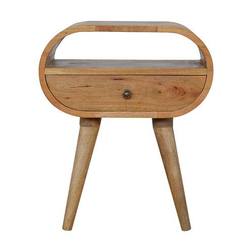 Circular Drawer Bedside Table