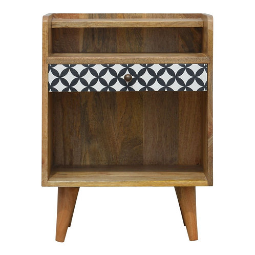 Kjeller Print Bedside Table
