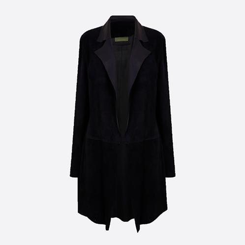 Suede Unstructured Jacket - Black