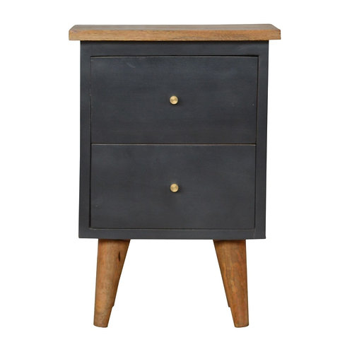 Midnight Blue Painted Bedside Table