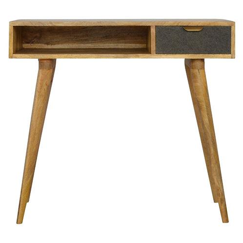 Malmo Tweed Drawer Writing Desk