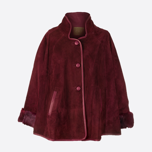 Suede Leather Swing Jacket