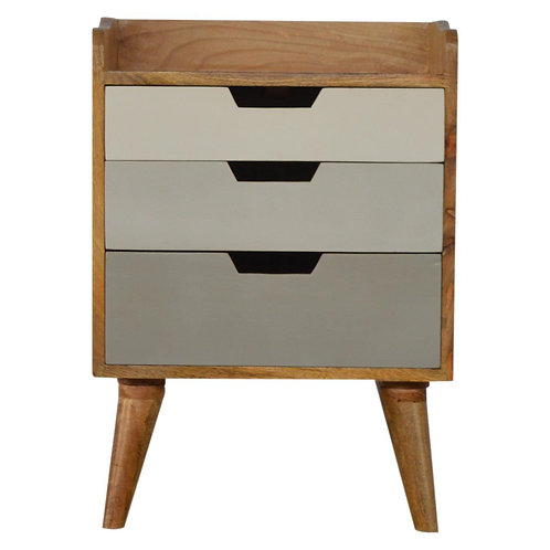 Grey Gradient Sundsvall Bedside Table