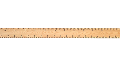 Raw Redwood Ruler Height Chart