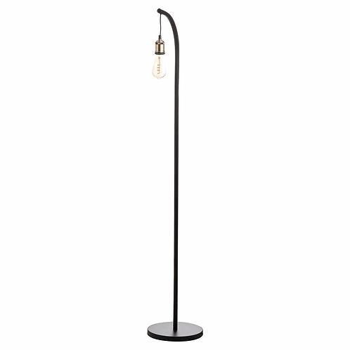 Black & Brass Minimal Floor Lamp