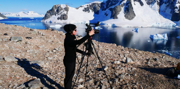 Me shooting in Antarctica