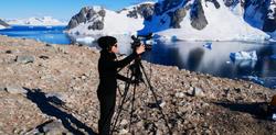 Me shooting in Antarctica