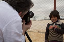 Giles Duley in Za'atari Refugee Camp