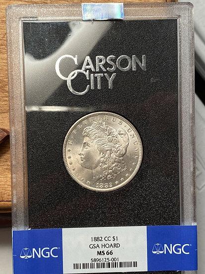 1882-CC Morgan Silver Dollar GSA Hoard NGC MS66