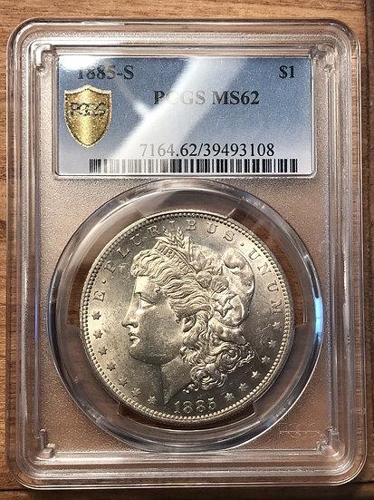 1885-S Morgan Silver Dollar PCGS MS62(SOLD
