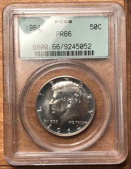 1964 Proof Kennedy Half Dollar PCGS PR66 Old Green Holder
