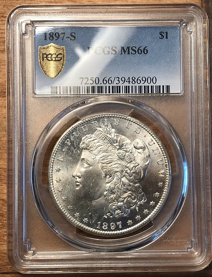 1897-S Morgan Silver Dollar PCGS MS66