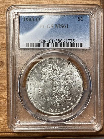 1903-O Morgan Silver Dollar PCGS MS61
