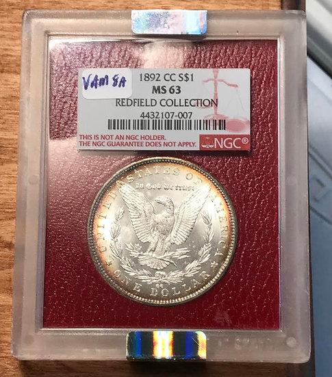 1892-CC Redfield Morgan Dollar(SOLD)