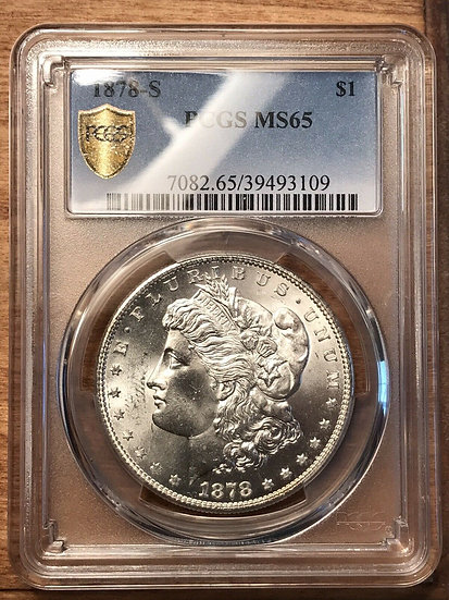 1878-S Morgan Silver Dollar PCGS MS65(SOLD)