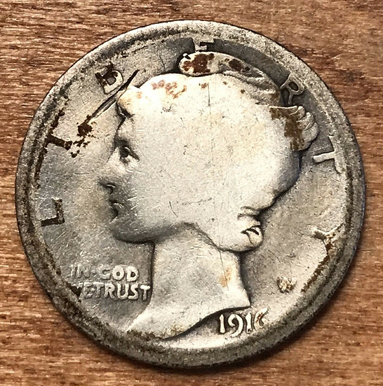 1916-D Mercury Dime AG/G(SOLD)