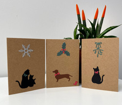 Cats and Dogs mini Christmas cards