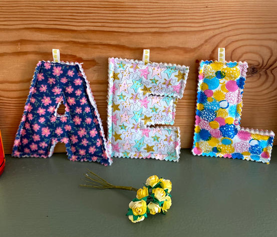 Rustic Fabric Letters