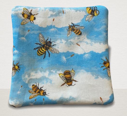 Bee fabric coasters