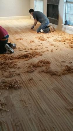 Hand-scrapped Wood Floors