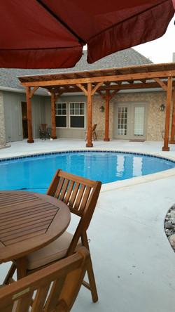 Pool Refinish with New Pergola