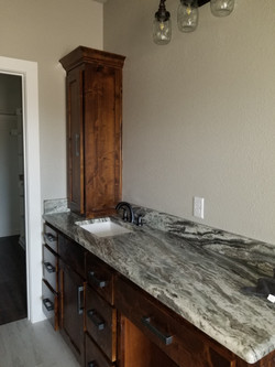 Her Vanity with Utility Cabinet