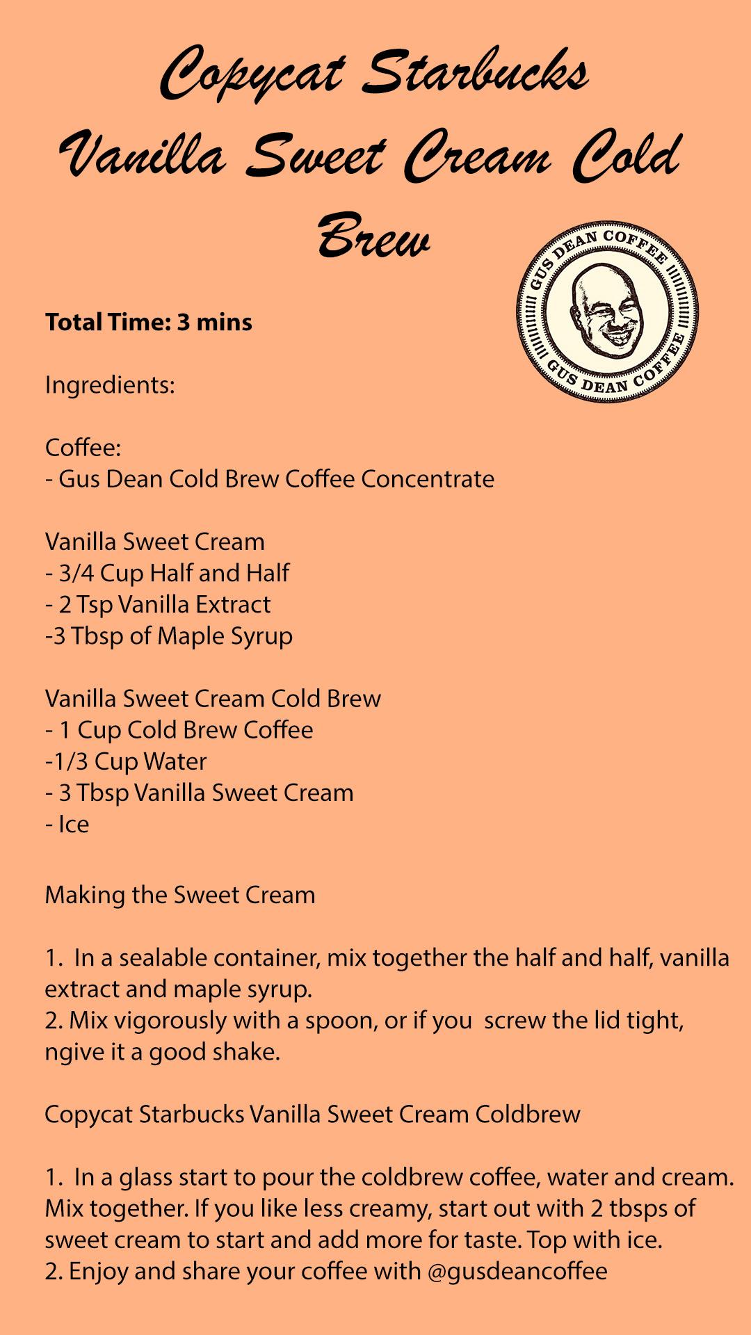 Sweet Cream Coldbrew Recipe