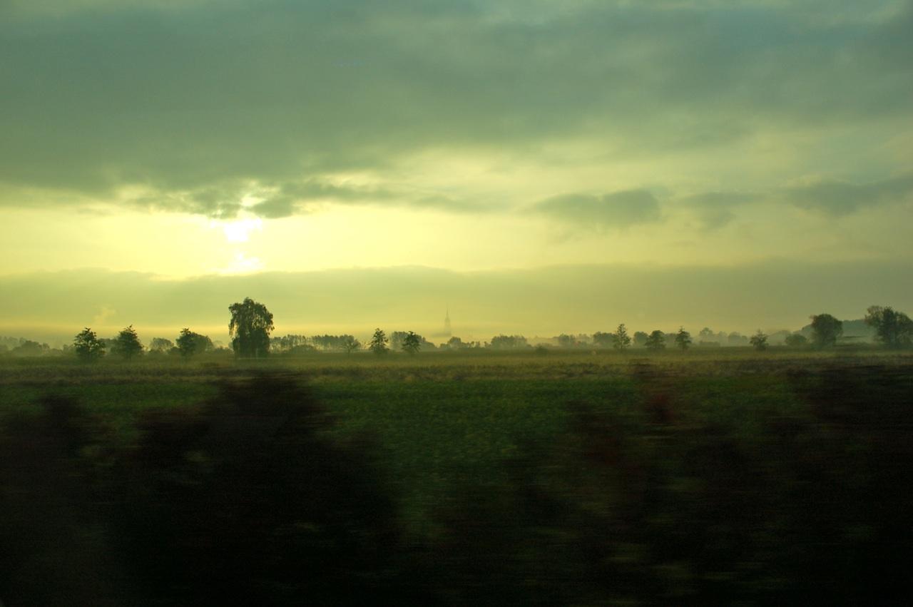 Früh am Morgen im Tourbus