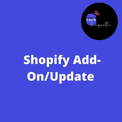 Shopify App Add-On Update